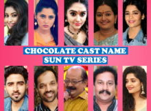 Chocolate Cast Name, Sun TV Show, Crew Members, Timing, Story Premise, Wiki, Genre, Premier, Start Date, Images, Pictures and More