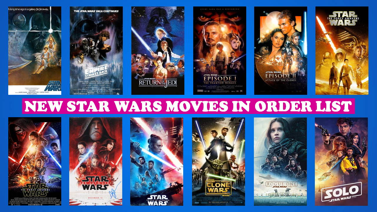 New Star Wars Movies in Order, Star Wars a New Order, Latest Star Wars Movies in Order